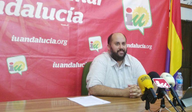 Juan Francisco Cazalilla, portavoz del grupo IULV-CA de Andújar
