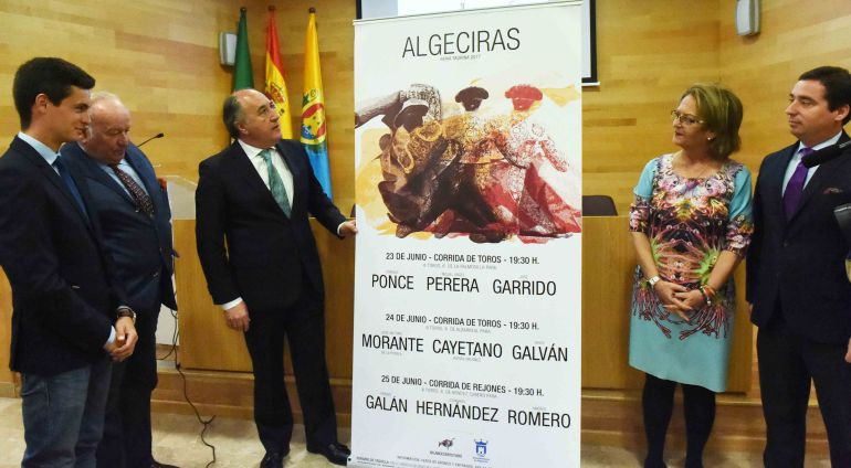 Un momento de la presentación del los carteles taurinos de Algeciras.