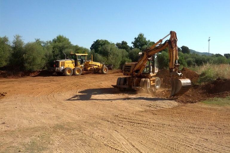 Inicia las obras del área para autocaravanas