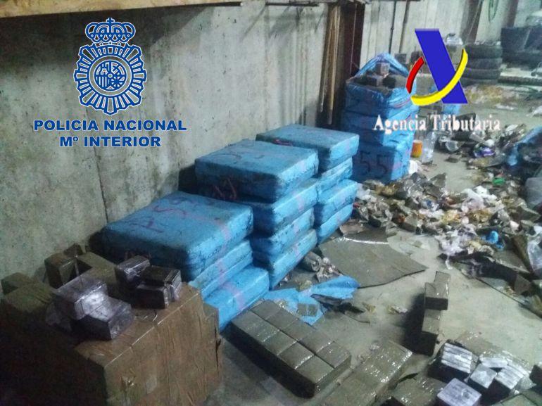 Droga incautada en la operación contra el narcotráfico en la Costa de Huelva.