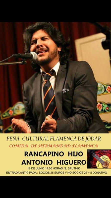 Cartel anunciador del recitla de Rancapino 'Hijo'