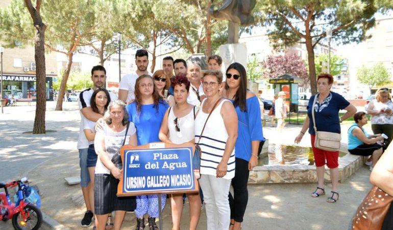 Familiares de Ursino se han mostrado agradecidos por el homenaje al joven fallecido en 1979