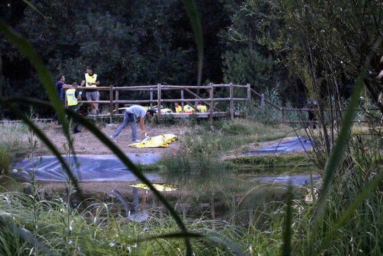 L'estany de les hortes de Santa Eugènia on s'ha ofegat el nen