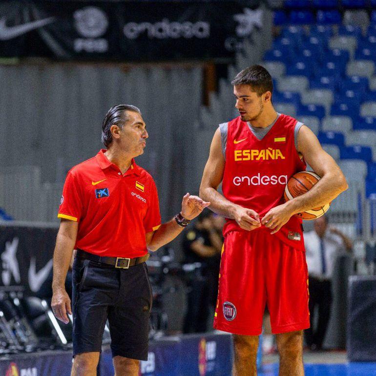 Alberto Abalde en una concentración con la Selección Española