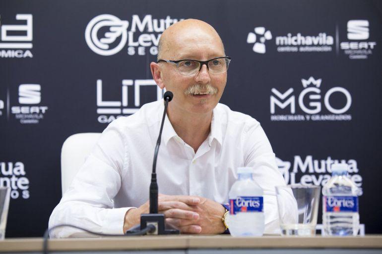 El nuevo entrenador albinegro, Frank Castelló