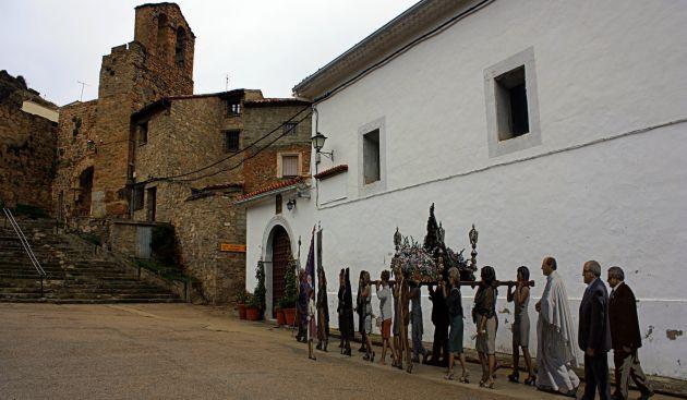 Figura de la procesión en el Paisaje Ilustrado de Cañete.