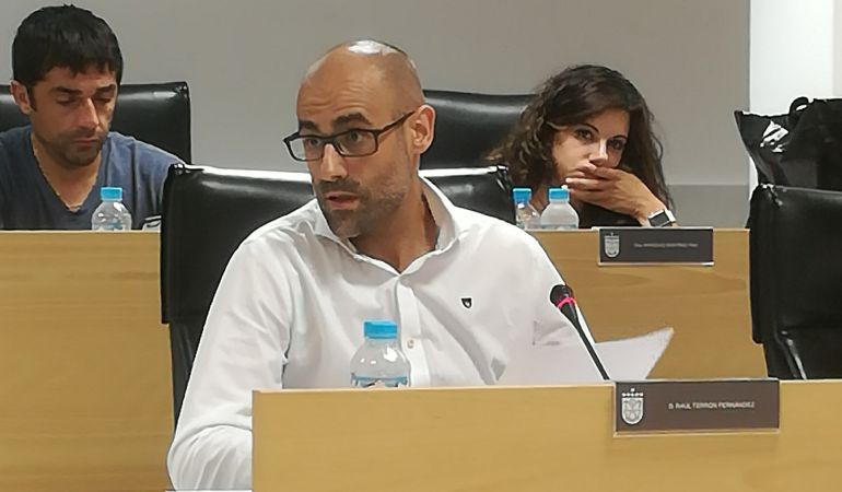 Raúl Terrón, portavoz del PP Sanse en el Pleno