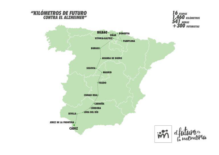 La marcha solidaria recorrerá España de sur a norte hasta el 25 de junio