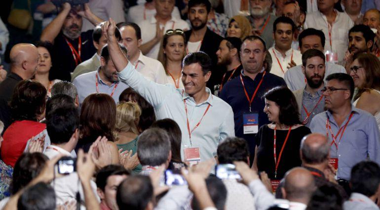 Entrada de Pedro Sánchez en el 39 Congreso Federal