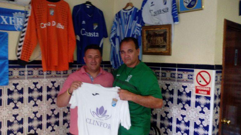 Pachi Mancilla entrenador del equipo cadete junto a Vicente Vargas