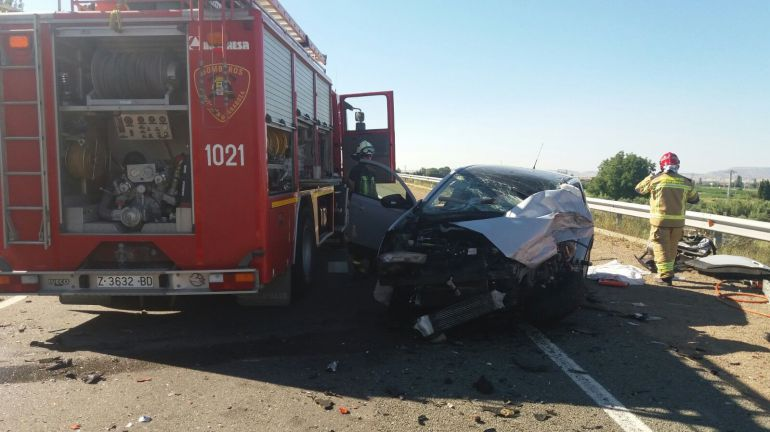 Accidente N232, altura de Mallén