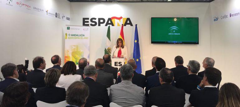 La presidenta de la Junta, Susana Díaz, en Le Bourget