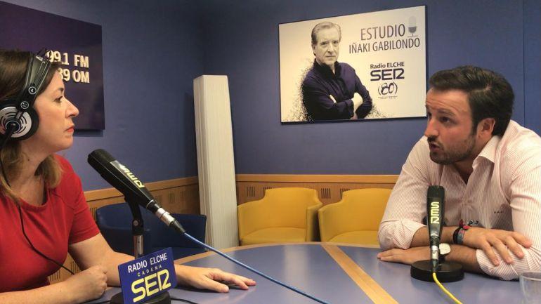 Pablo Ruz en Hoy por Hoy Elche con Cristina Medina
