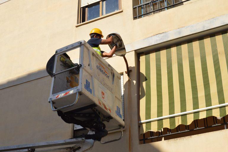 Reparación de alumbrado público en Elda
