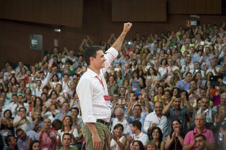 Pedro Sánchez, durante el congreso celebrado este fin de semana.