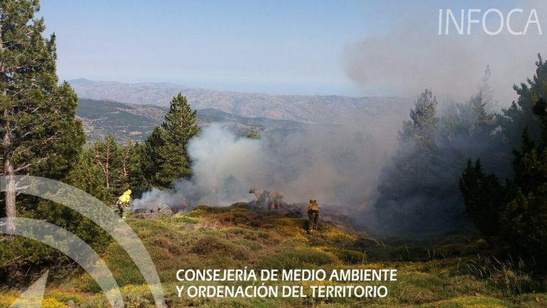 Imagen del incendio en Pampaneira (Granada)