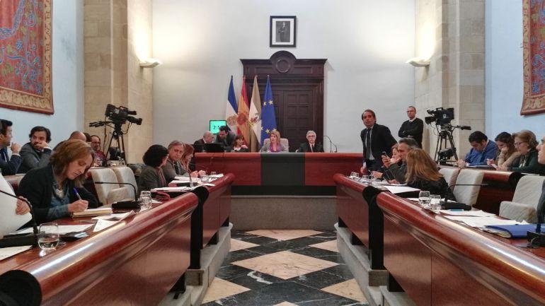 Imagen de un pleno en el Ayuntamiento de Jerez