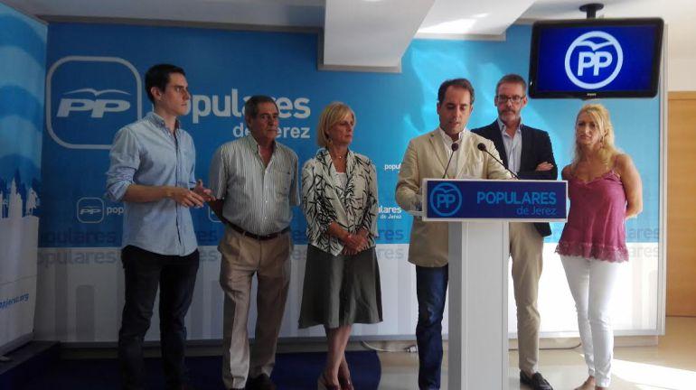 Imagen de la rueda de prensa de este lunes del PP de Jerez