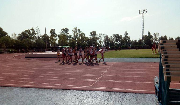 Momento de la celegración de la rueba masculina en el campeonato desarrollado en Lorca