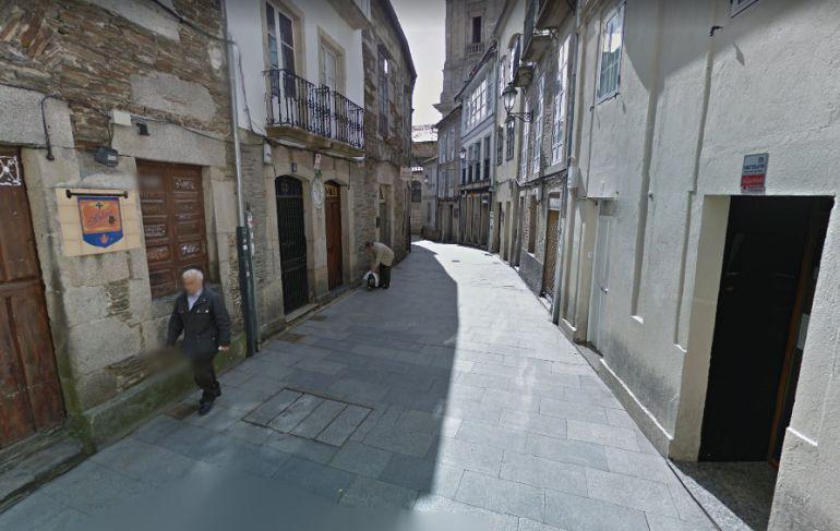 Zona donde se produjo la pelea en el casco histórico de Lugo