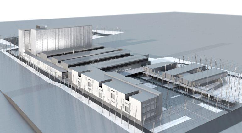 Infografía del nuevo hospital de Palencia