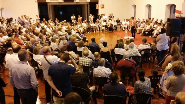 Imagen del acto de Pablo Zuloaga en Torrelavega.