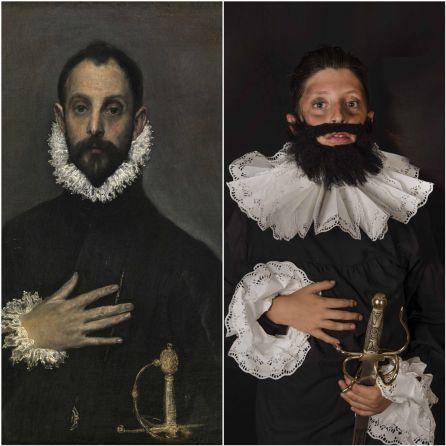 El caballero de la mano en el pecho de El Greco con R. González