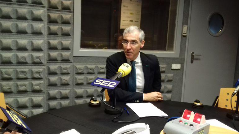El Conselleiro de Industria durante su entrevista en Vigo Hoy por Hoy