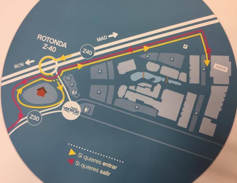 Ya está abierto el nuevo acceso a Puerto Venecia