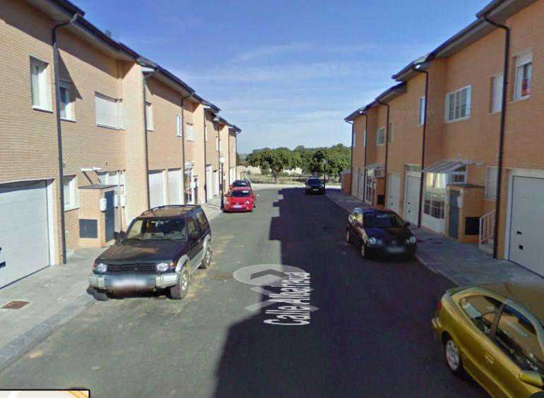 Calle Albahaca, en la urbanización 'Dehesa del Pinar'