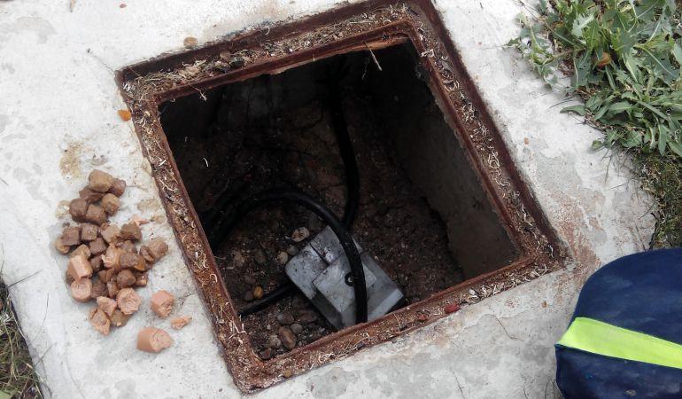 Los ladrones han reventado varias arquetas para hacerse con 800 kilos de cobre