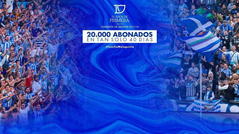 El Málaga ya tiene 20.000 abonados