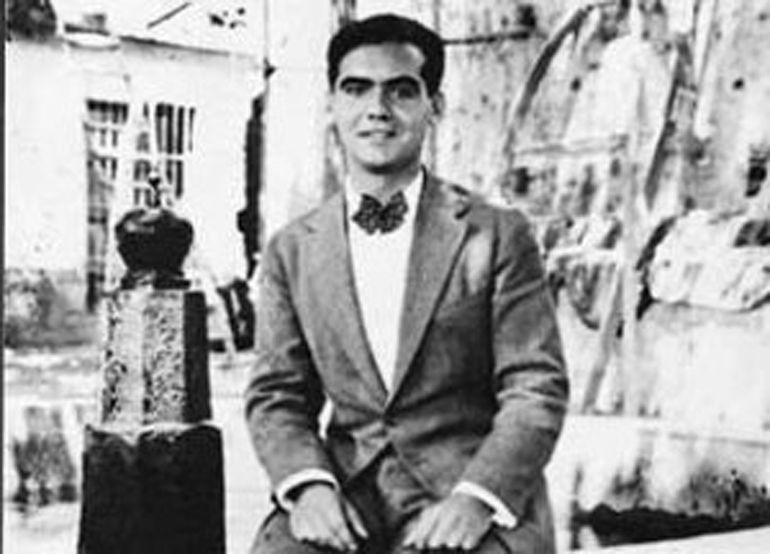 García Lorca en Lanjarón (Granada) en 1917