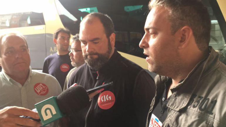 Las centrales sindicales se encuentran en la estación de Autobuses de Lugo con piquetes informativos