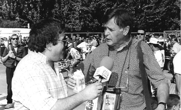 José Vicente Ávila entrevista a Chico Pérez en la Vuelta 96.