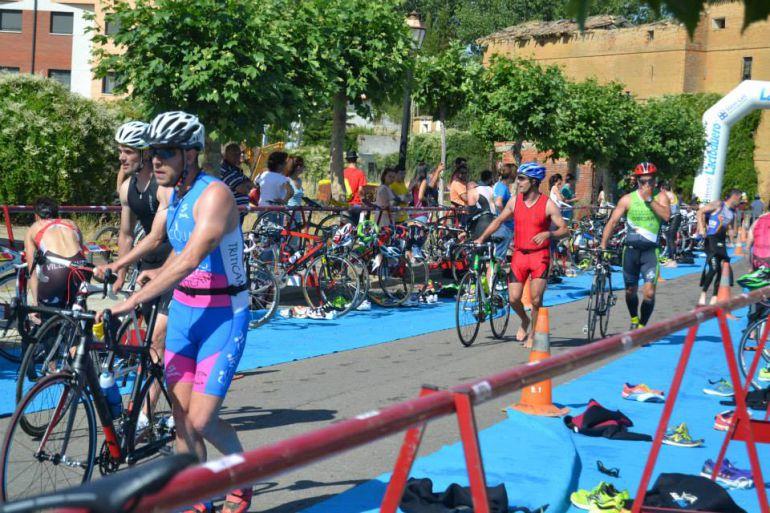 Imagen de archivo del triatlón de Lantadilla