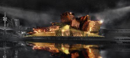 El Guggenheim se convierte en un gran lienzo