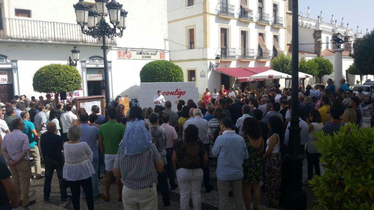 Presentación en Olivenza de la candidatura de Guillermo Fernández Vara a las Primarias del PSOE extremeño.