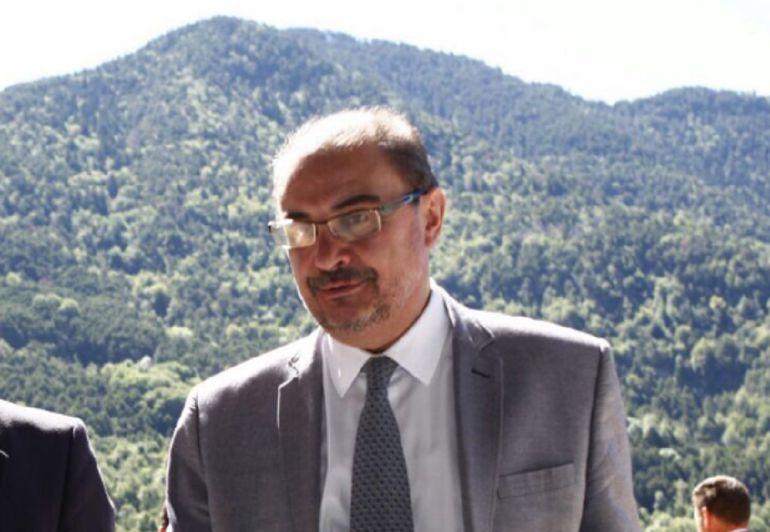 El presidente de Aragón y secretario regional del PSOE Aragón, Javier Lambán