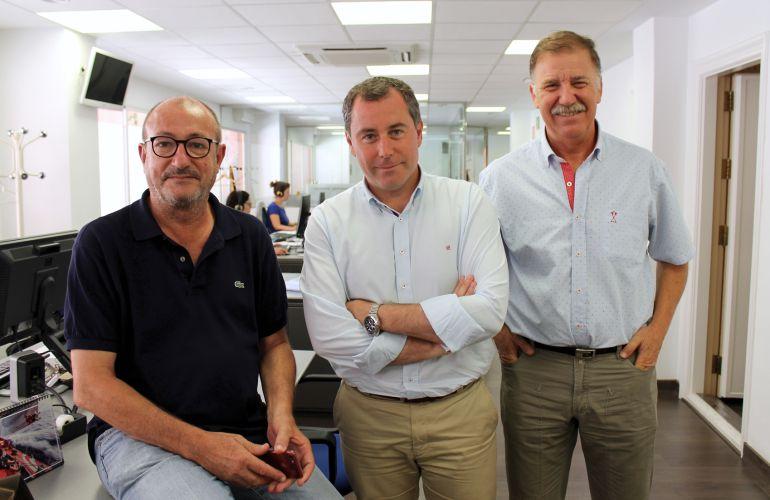 Pepe Soto, Juan Antonio Román y Antoni Arques