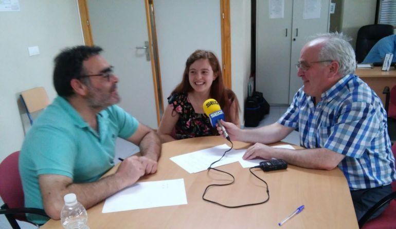 Momento de la entrevista que manteníamos con Lorena Geerman y Enriqeu Yerves