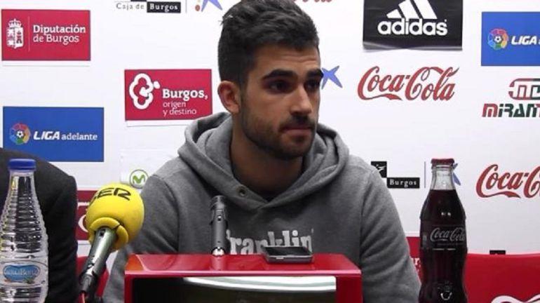 Oyarzun, durante una rueda de prensa del Club Deportivo Mirandés