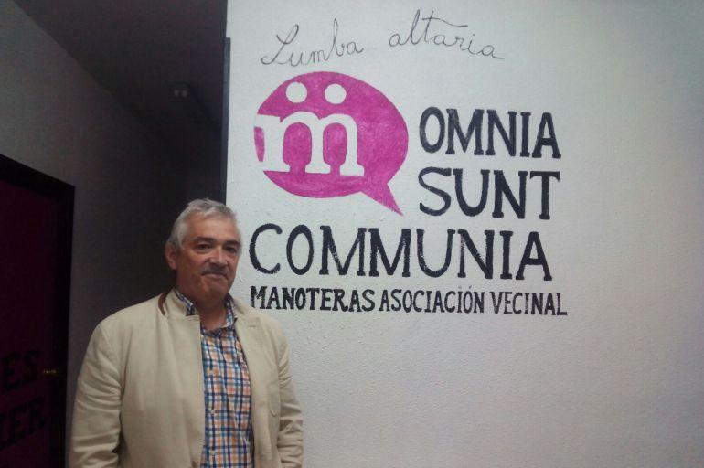 Miguel Ángel López, vocal de la AAVV Manoteras.