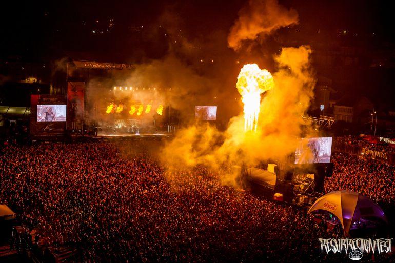 Rammstein durante su actuación en Viveiro.
