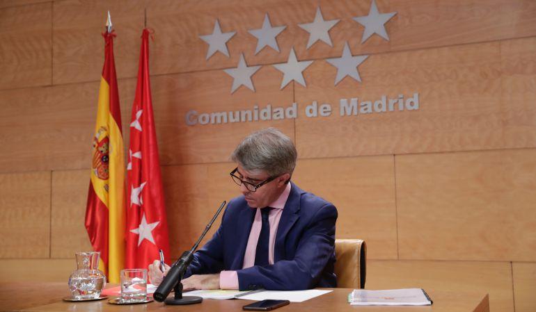 Ángel Garrido, consejero de Presidencia de la Comunidad