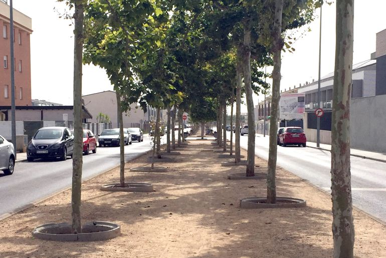 ONDA: La mediana de la calle Moncofa contará con un nuevo pavimento