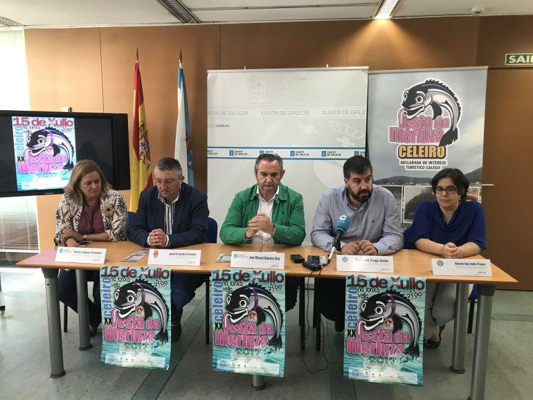 Presentación da Festa da Merluza de Celeiro en la Delegación Territorial de la Xunta en Lugo