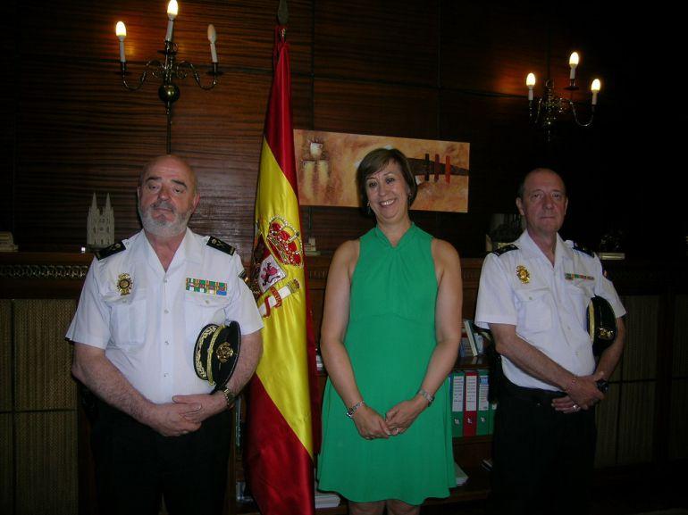 Jefe superior de la Policía Nacional de Castilla y León, Jorge Zurita, visita Segovia