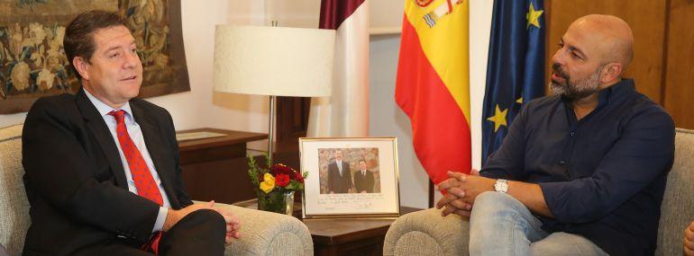 Reunión entre el presidente regional, Emiliano García Page y José García Molina, de Podemos este jueves