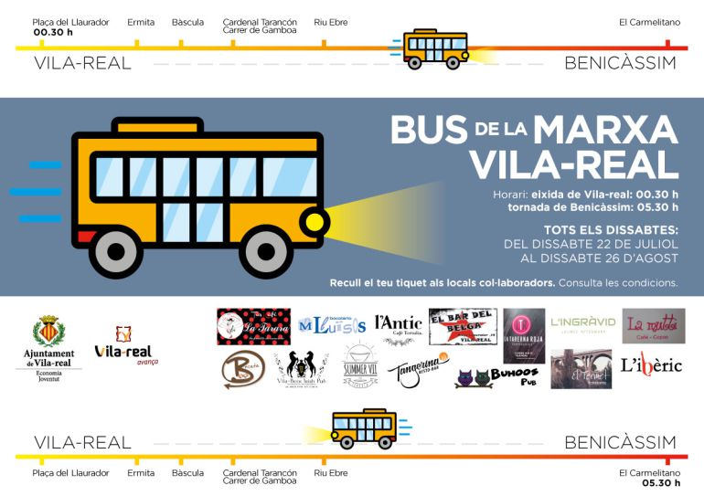 Vila-real impulsa el bus de la marxa fins Benicàssim